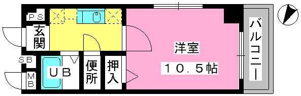 アネモス春日原 / 404号室間取り