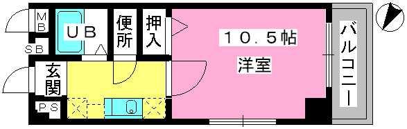 アネモス春日原 / 501号室間取り