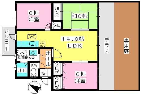 高義ビルⅢ / 102号室間取り