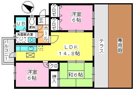 高義ビルⅢ / 103号室間取り