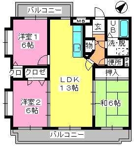 アゼリア'97 / 203号室間取り