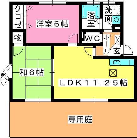 サンハイム日永田 / 103号室間取り