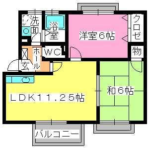 サンハイム日永田 / 202号室間取り