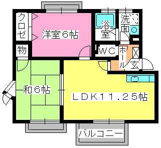 サンハイム日永田 / 203号室間取り
