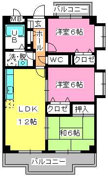 マンテンビュー / 201号室間取り