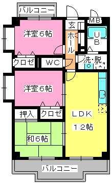 マンテンビュー / 305号室間取り