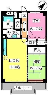 マンテンビュー / 404号室間取り
