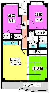シーラ・プラッツ / 402号室間取り