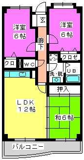 シーラ・プラッツ / 404号室間取り