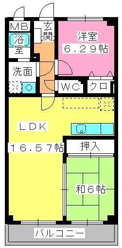 サニーサイド / 502号室間取り