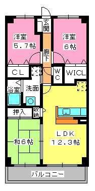 サントラップアベニュー / 202号室間取り