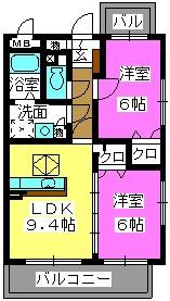 SHIAWASESO / 103号室間取り