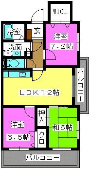 ピュア若草Ⅱ / 301号室間取り