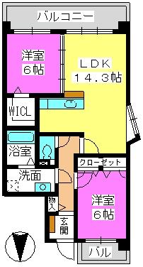 メルベーユ・大野城 / 301号室間取り