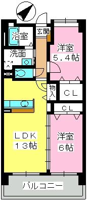 フェニックス福岡南 / 606号室間取り