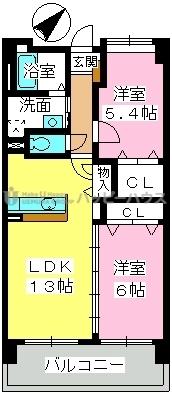 フェニックス福岡南 / 903号室間取り