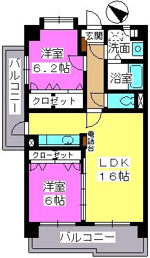 サンライト キャッスル / 405号室間取り