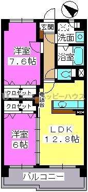 サンライト キャッスル / 502号室間取り