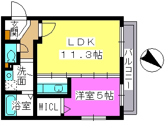 レスピーザⅢ / 303号室間取り