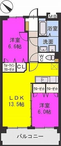 ジュピター大野城 / 202号室間取り