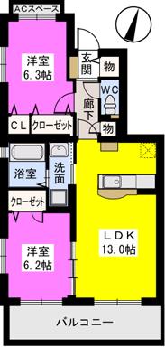 ルベルムⅠ / 203号室間取り
