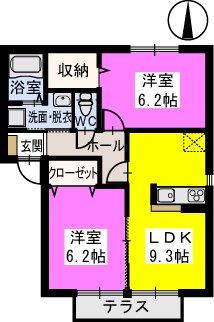 桜桃(サクランボ) / 102号室間取り