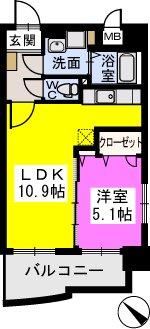 エスポワール シャルム / 203号室間取り