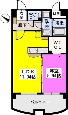 シャトレ五番館 / 302号室間取り