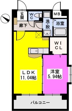 シャトレ五番館(ペット可) / 501号室間取り
