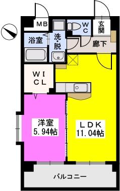 シャトレ五番館 / 603号室間取り