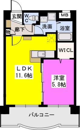 パークサイドソレイユ / 402号室間取り