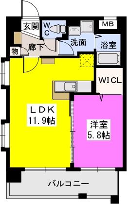 パークサイドソレイユ / 603号室間取り