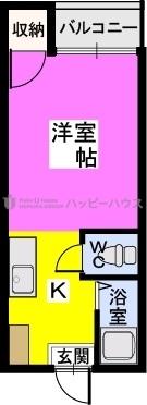 アメニティ仲畑 / 105号室間取り