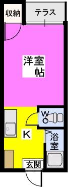 アメニティ仲畑 / 207号室間取り