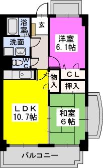 エクセル21 / 603号室間取り