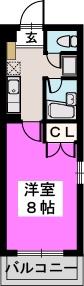 プレッソ21 / 101号室間取り