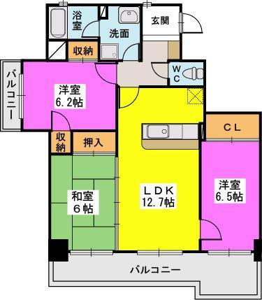 サピア児嶋 / 201号室間取り