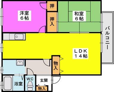 プレジデント正弥 / 1-208号室間取り