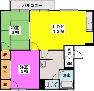 プレジデント正弥 / 2-116号室間取り