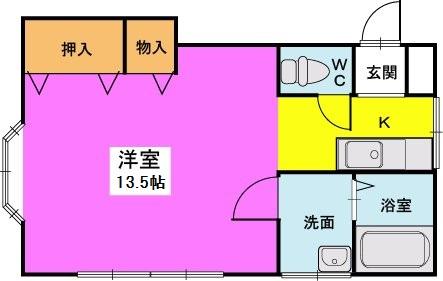 タチバナハイツ3 / 202号室間取り