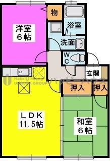 メゾン・ド・プリム / B106号室間取り