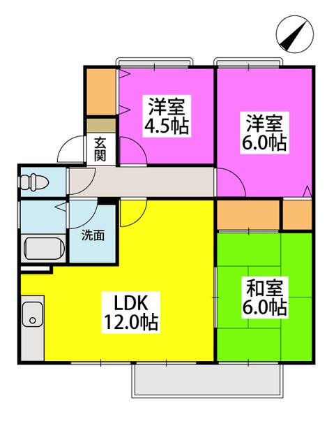 メゾン・ド・プリムⅡ / 201号室間取り