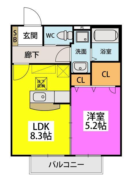 ROCCO山田 / 202号室間取り