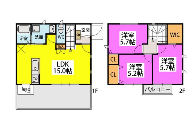 仮)タウンハウス大城 / A号室間取り