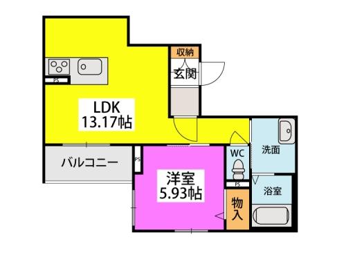 ラパン / 303号室間取り
