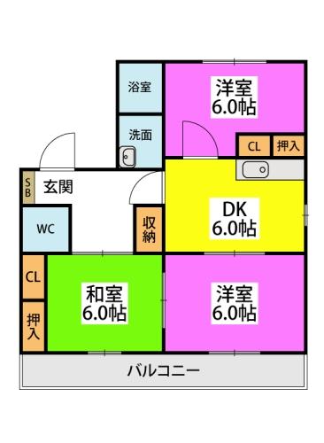 フラワーポテト正弥 / 2-117号室間取り