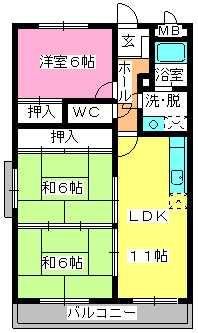 サンシャイン須玖 / 403号室間取り