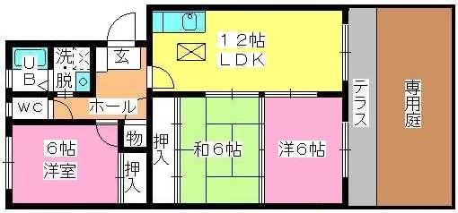 プラム惣利 / 102号室間取り