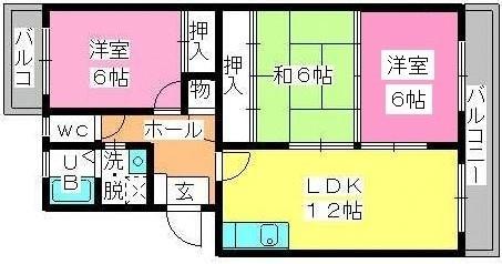 プラム惣利 / 203号室間取り