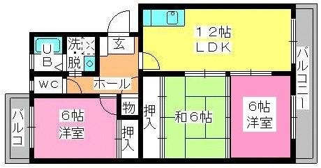 プラム惣利 / 205号室間取り